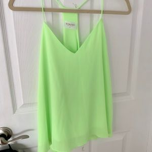Lime neon green cami blouse
